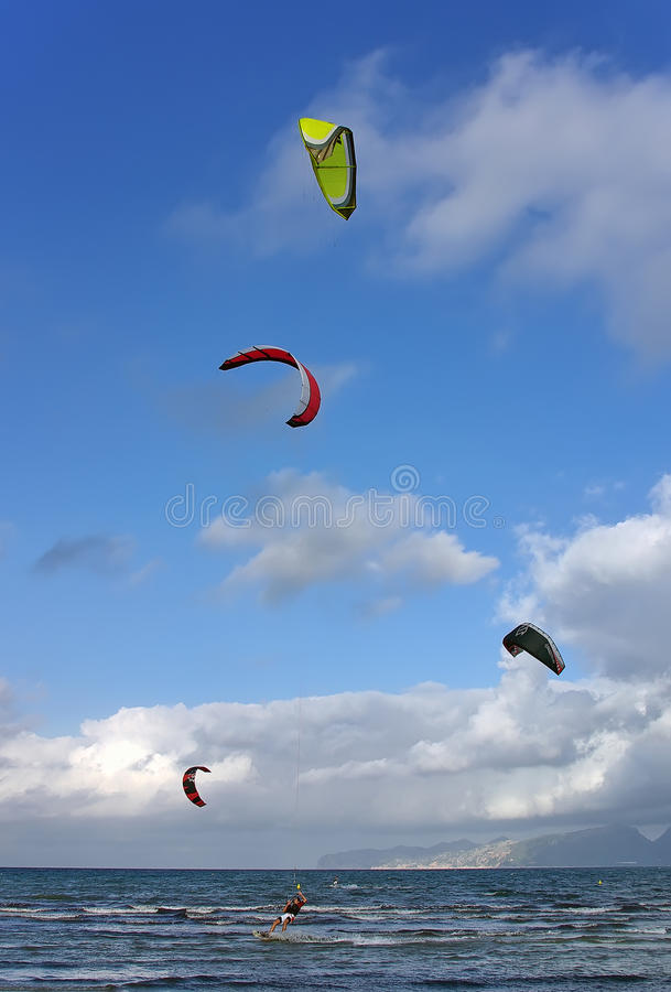 Download Kite Surf in Majorca stock photo. Image of spain, speed - 22051036