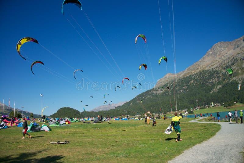 Download Kite Surf In Silvaplana Editorial Stock Image - Image: 26651734