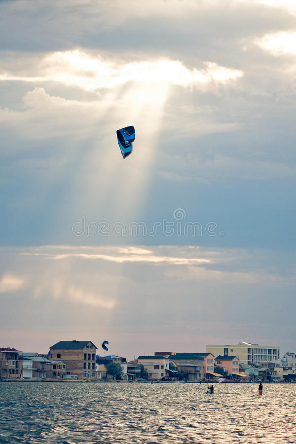 Download Kite surfing stock photo. Image of recreation, coast - 12463006