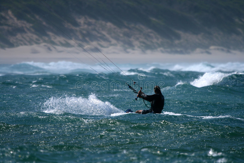 Download Kite surfing stock image. Image of pastime, person, activity - 1653271