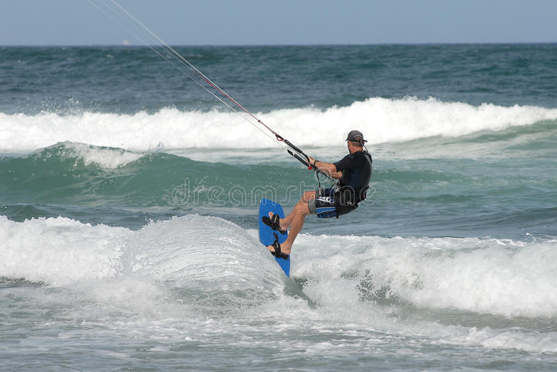Kite surfing. On the NSW east coat stock image