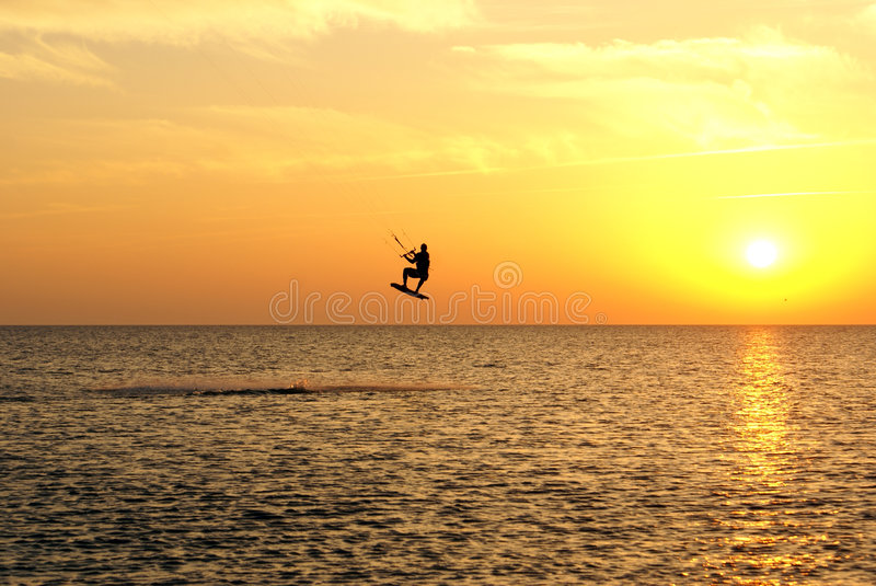 Kite surfing. On the Russian Black sea coast, Sochi, Russia stock photo