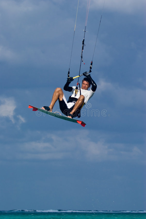 Download Kite Surfing stock photo. Image of kiteboard, jump, grand - 7247232