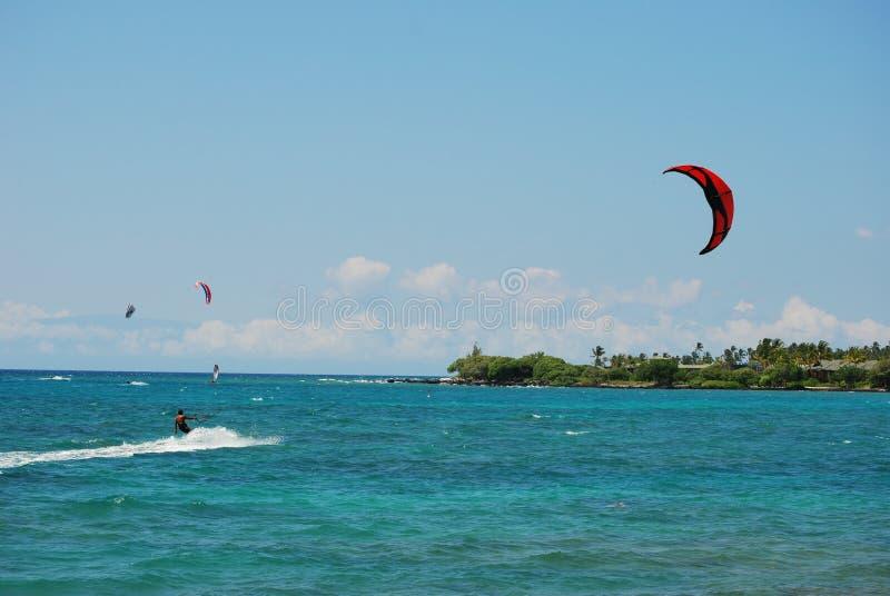 Kite Surfing Big Island Stock Image