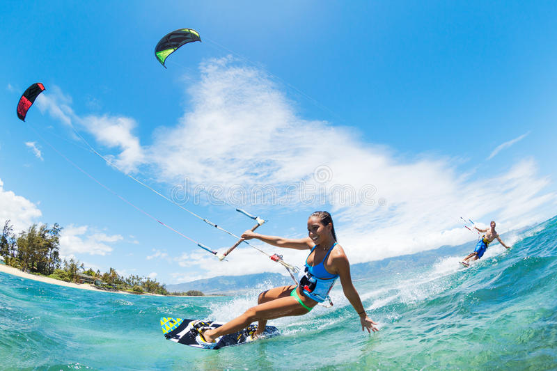 Download Kite Surfing stock image. Image of kitesurf, sport, kiteboarding - 31969489