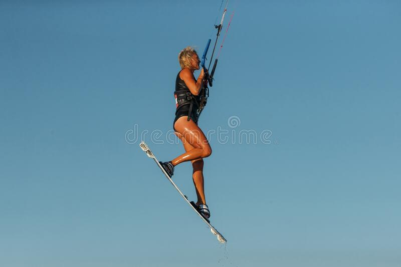 Kiteboarding sport stock photos
