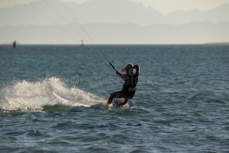 Kiteboarding sport royalty free stock images