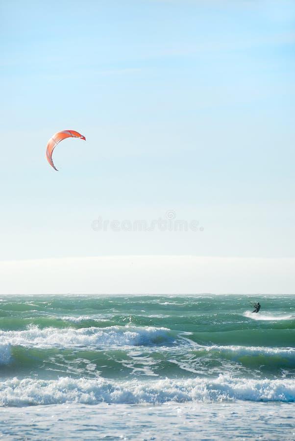Kite Surfing in San Francisco royalty free stock photo