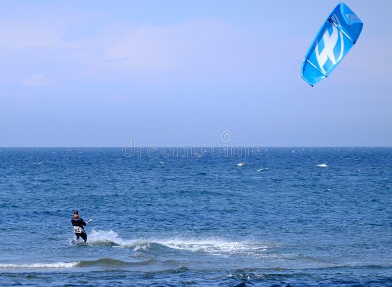 Kite surfing royalty free stock photos