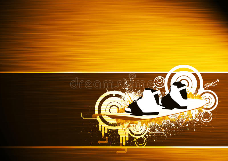 Download Kite And Wakeboard Bacground Stock Illustration - Image: 26550984