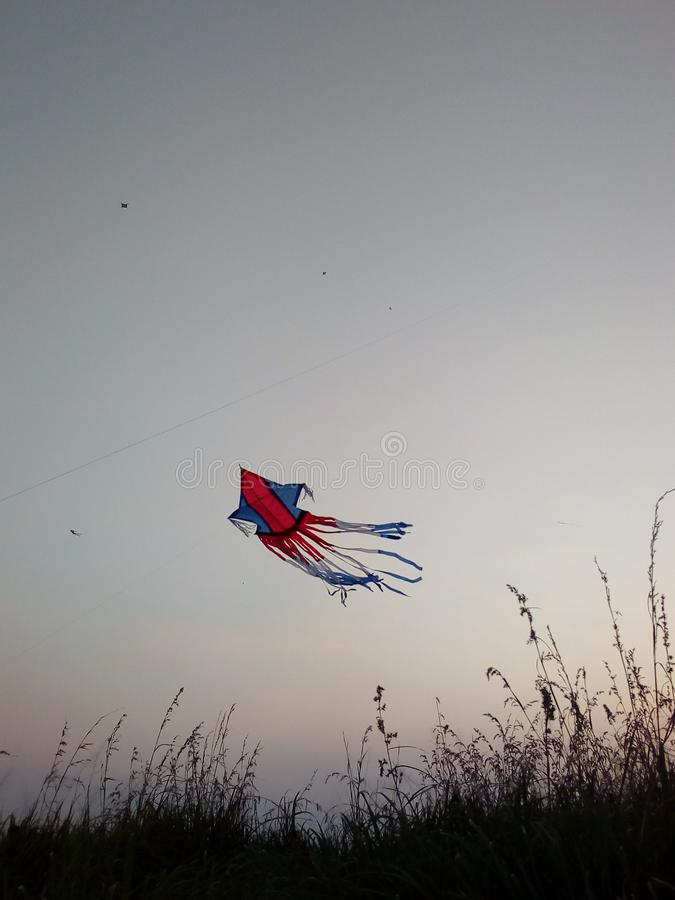 Kite in the sky wallpaper. For android phone and smart phones royalty free stock images