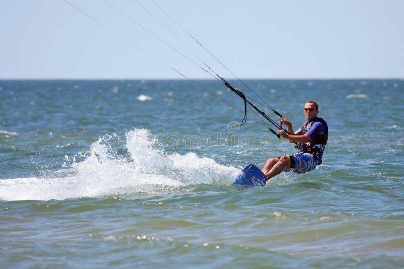 Kiteboarder stockfoto