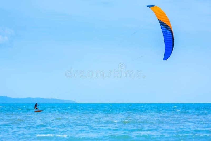 Kiteboarding royalty-vrije stock fotografie