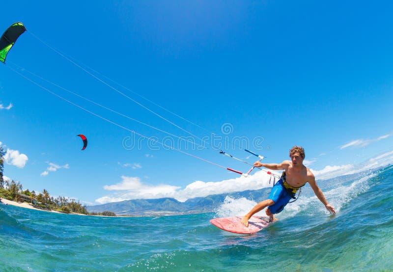 Kiteboarding foto de stock