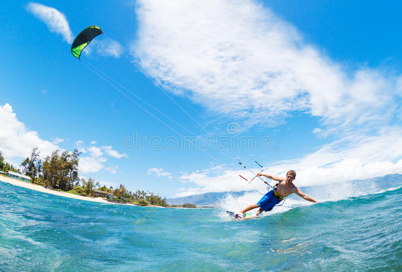 Kiteboarding imagem de stock