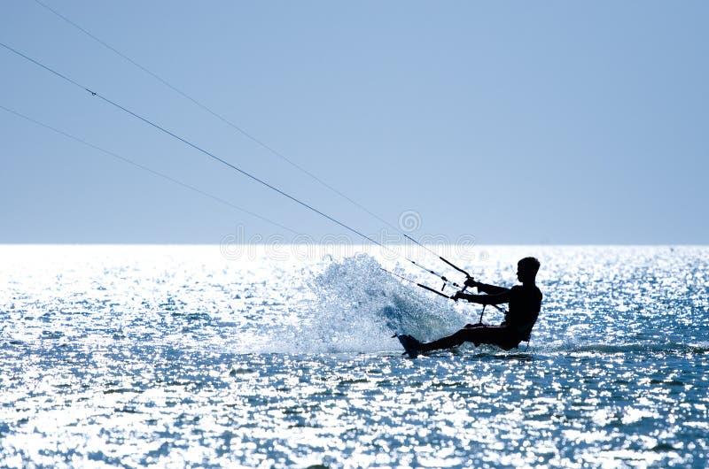 Kiteboarding royalty-vrije stock afbeelding
