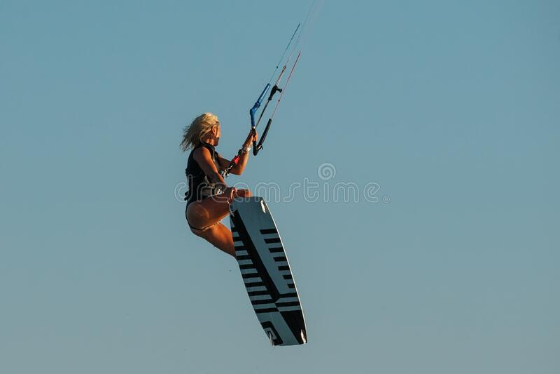 Kiteboarding sport stock image
