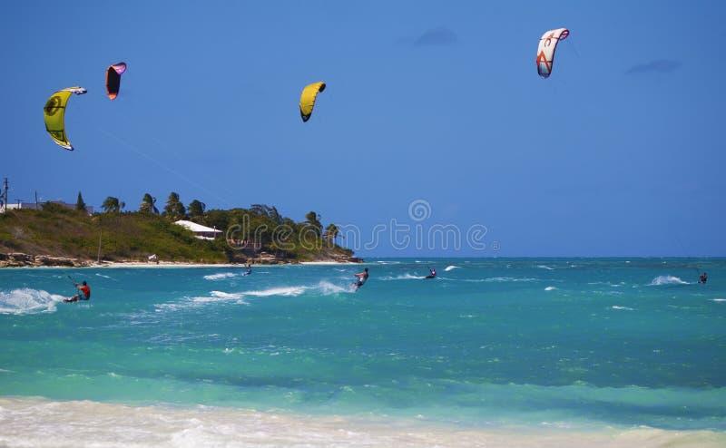 Kiteboardingsvakantie royalty-vrije stock foto