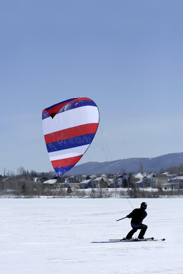 Kiter de ski photographie stock libre de droits