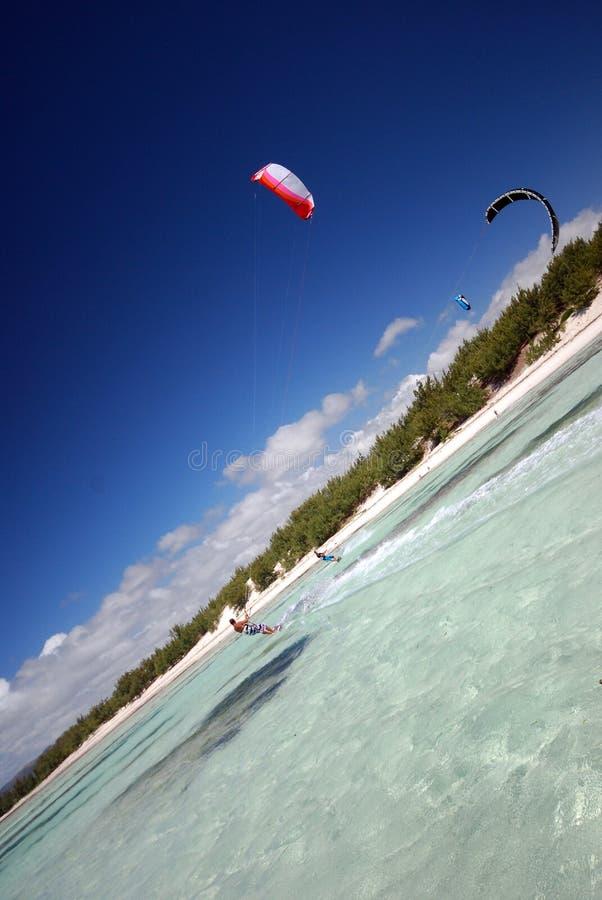 Kiter no vento de Madagascar fotografia de stock royalty free