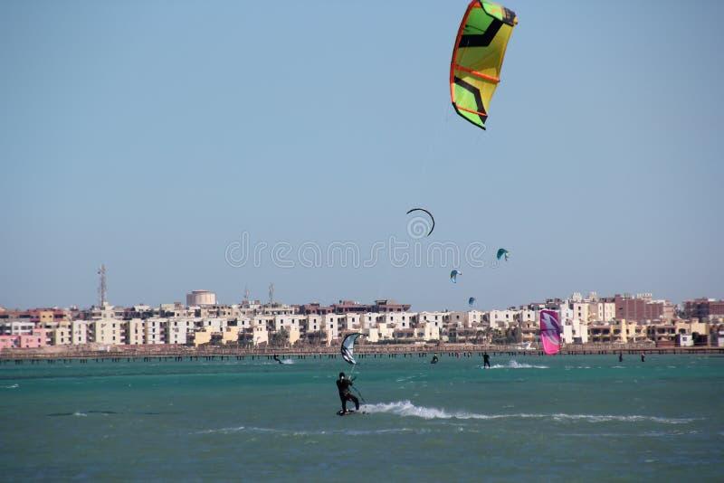 Kiter riding royalty free stock images