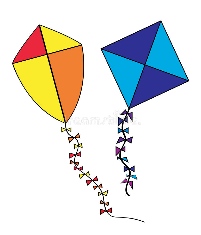 Download Kites stock vector. Image of isolated, colors, flying - 15280454