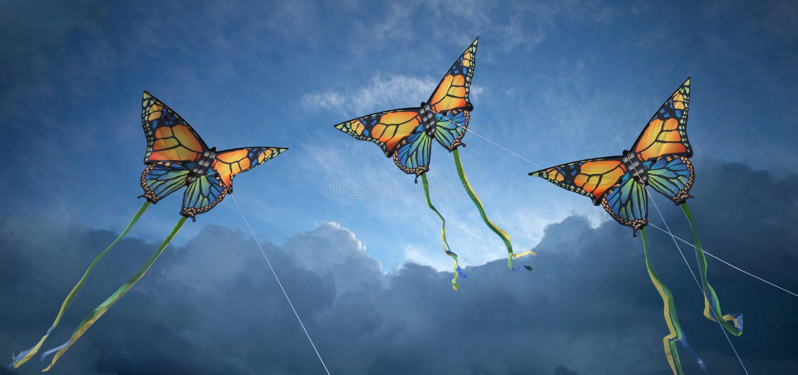 Download Kites stock image. Image of blue, light, butterfly, aspiration - 19180405