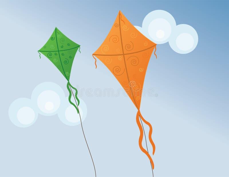 Kites stock illustration