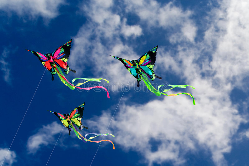 Kites Butterflies royalty free stock photo