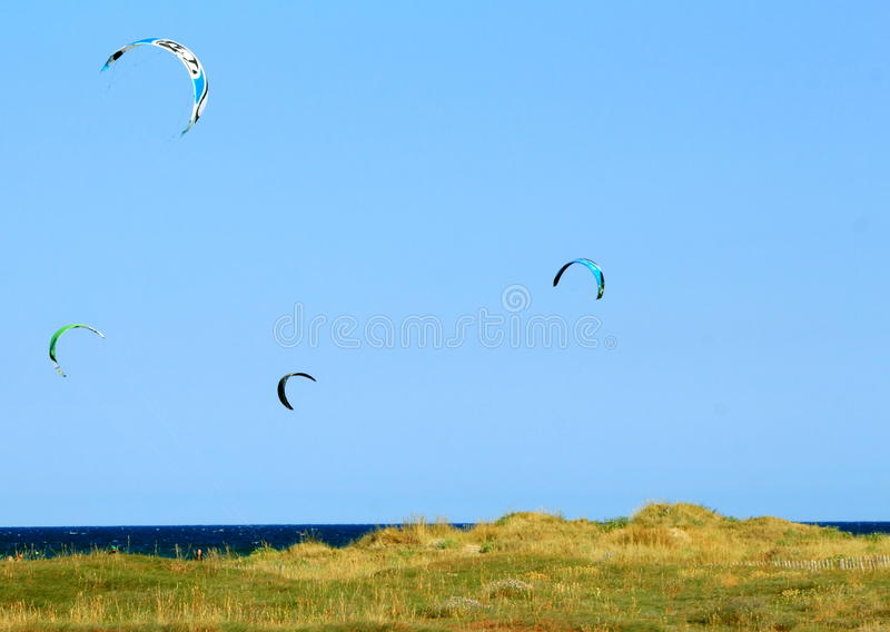 Download Kites flying stock photo. Image of flying, blue, dune - 26818378