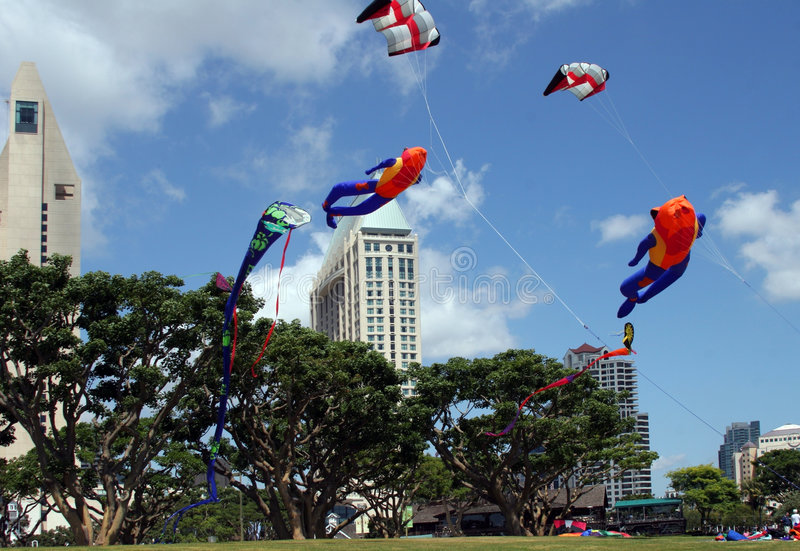 Download Kites In The Park Stock Image - Image: 107711