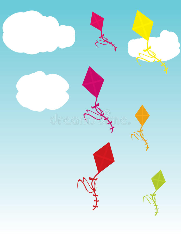 Download Kites in sky stock vector. Image of high, daytime, soaring - 12773823