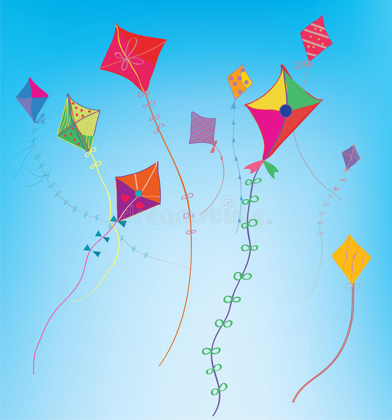 Download Kites In The Sky Background Stock Photo - Image: 25625670