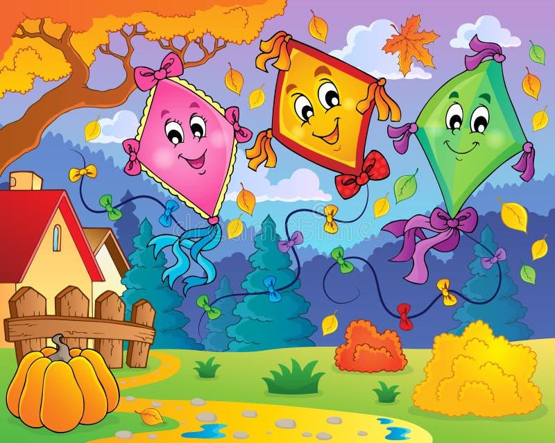 Kites theme image 9 stock illustration