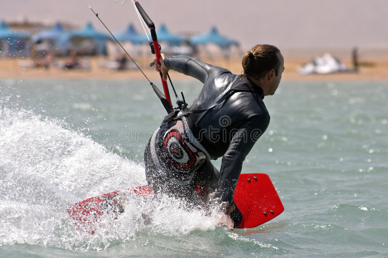 Kitesurf el gouna. Kitesurfing in egypt red sea royalty free stock photo