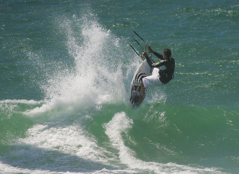 Kitesurf freie Fahrt stockfotos