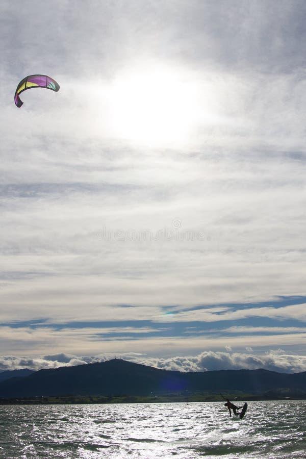 Kitesurf w Santander fotografia royalty free