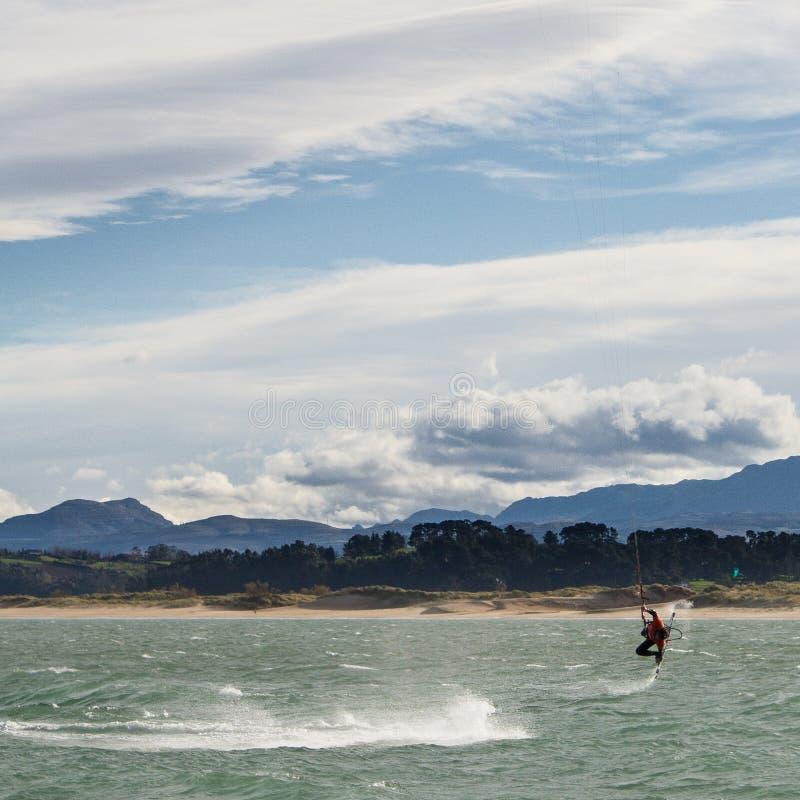 Kitesurf w Santander fotografia stock