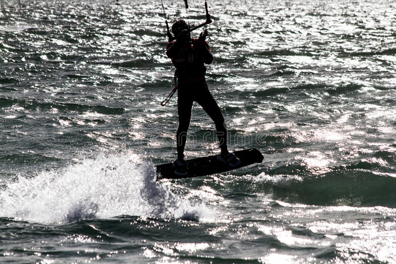 Kitesurf w Santander zdjęcia royalty free