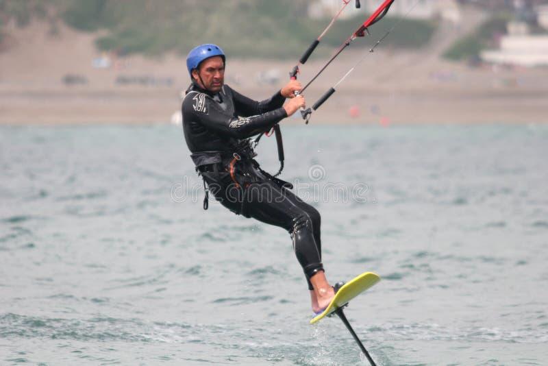 Kitesurfer immagine stock libera da diritti