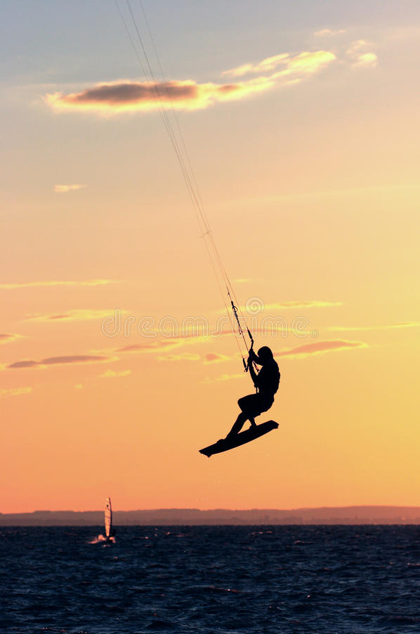 kitesurfer 库存照片