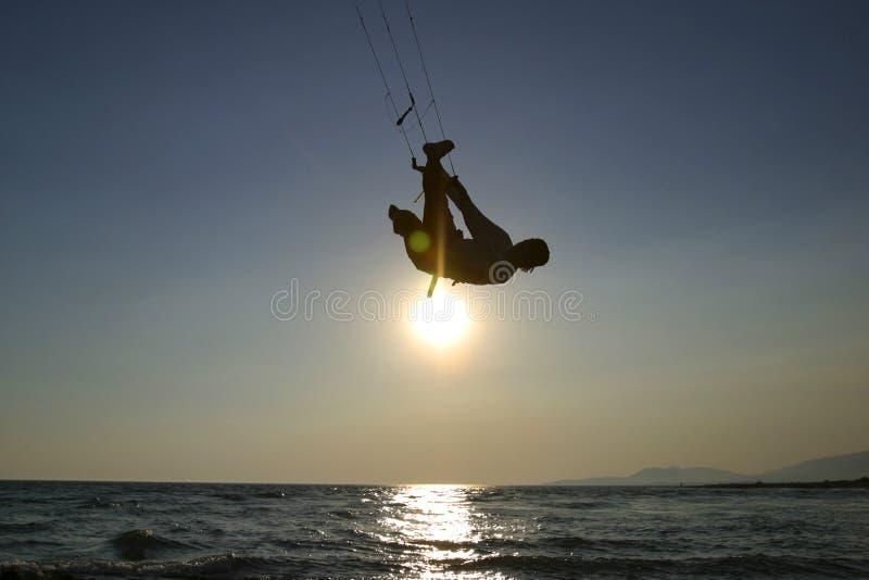 Kitesurfer stockbilder