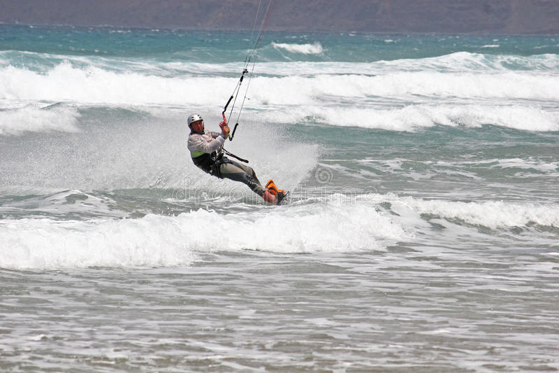 Kitesurfer stockfotos