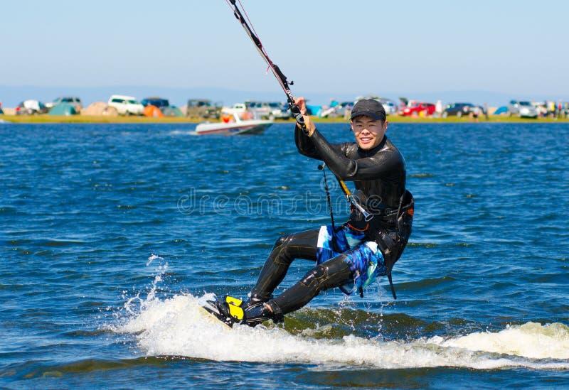 Kitesurfer royalty free stock photography