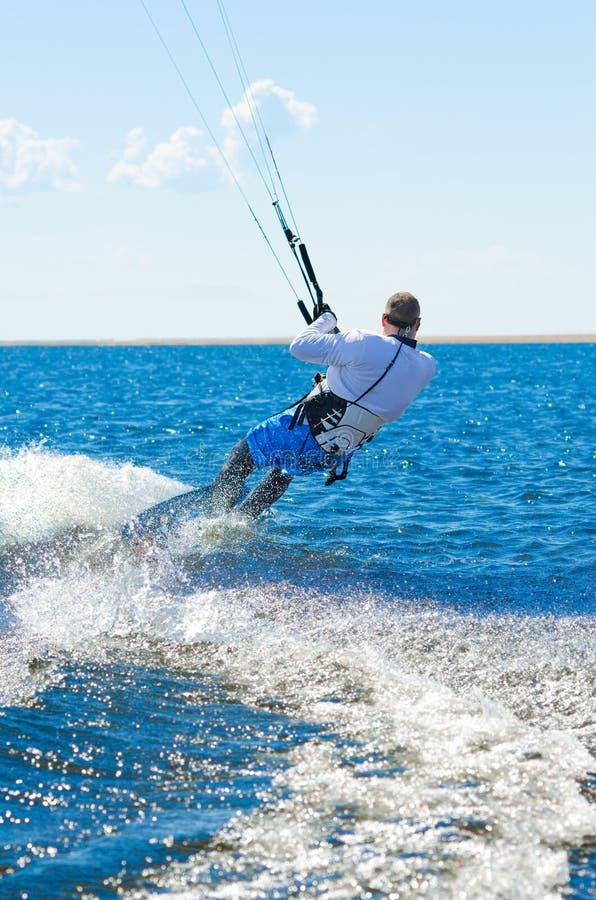 Download Kitesurfer stock image. Image of full, sailing, fountain - 21606449