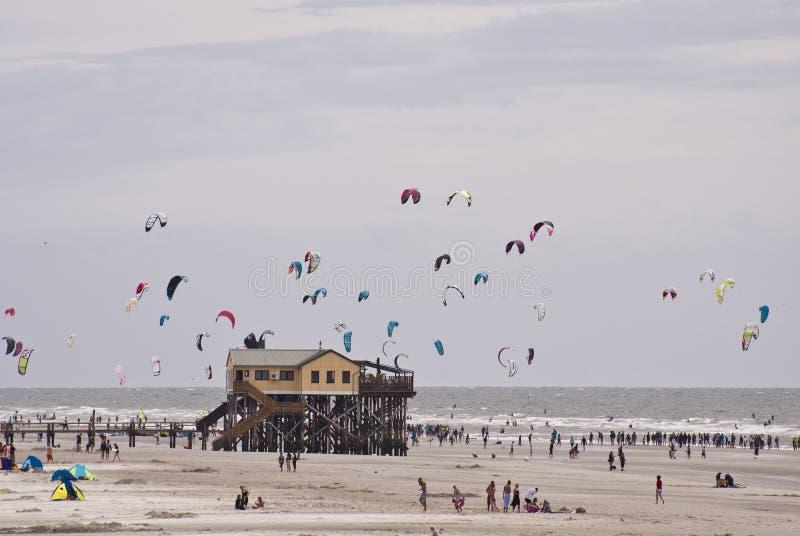 Kitesurfer royalty-vrije stock foto