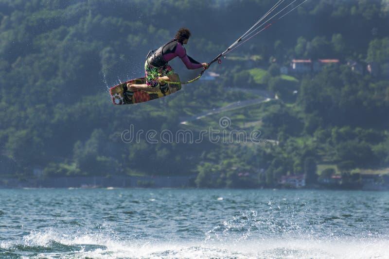 Kitesurfer royalty-vrije stock fotografie