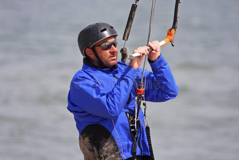 Kitesurfer stockbild