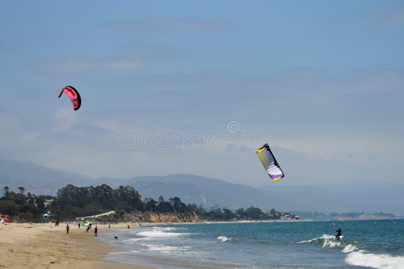 Kitesurfer At The Beach Stock Photography