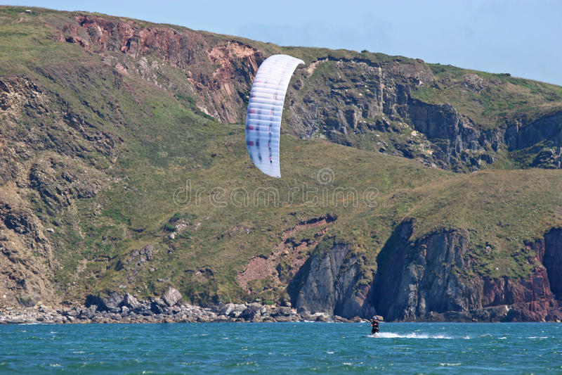 Kitesurfer in Bigbury bay